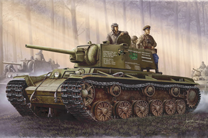 Russian Heavy Tank, KV-1 model 1942 simplified turret
