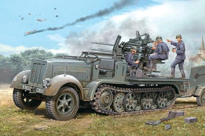German 2 cm Flakvierling 38 auf Selbstfahrlafette - Early version