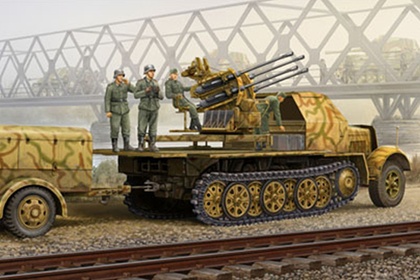 German 2 cm Flakvierling 38 auf Selbstfahrlafette - Late version