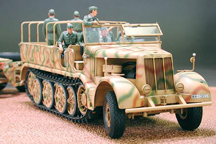 German 18 Ton Heavy Half-Track Famo and Tank Transporter