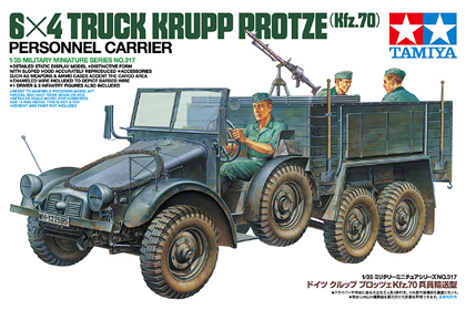 German 6x4 Truck, Krupp Protze, Personnel Carrier