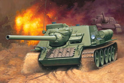 Russian Tank Destroyer, SU-100