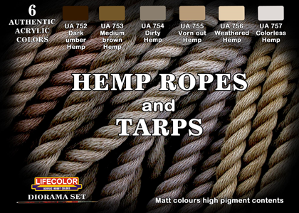 Hemp ropes and Tarps set