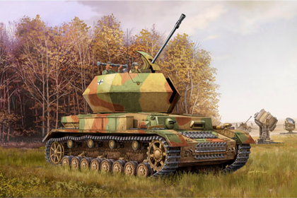German 3.7cm FlaK 43 Flakpanzer IV - Ostwind