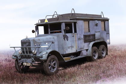 German Radio Communication Truck, Henschel 33 D1