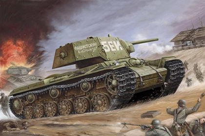Russian Heavy Tank, KV-1 Ehkranami