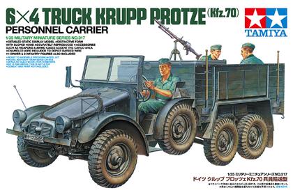 German 6x4 Truck, Krupp Protze, Personnel Carrier