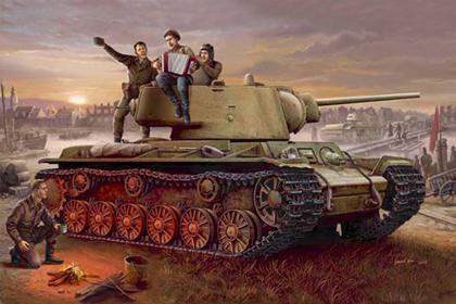 Russian Heavy Tank, KV-1 model 1942, Lightweight Cast Tank