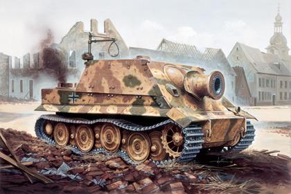 German Sturmmörser Tiger mit 38 cm RW 61