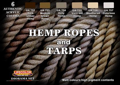 Hemp ropes and Tarps set