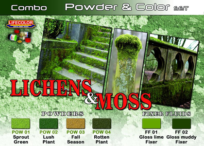 Lichens and Moss set