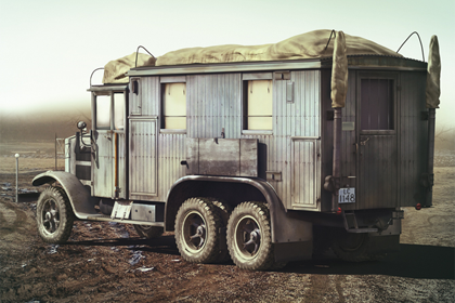 German Radio Communication Truck, Krupp L3H 163